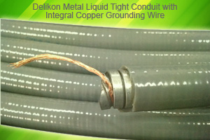 Delikon Metal Liquid Tight Conduit With Integral Copper Grounding Wire