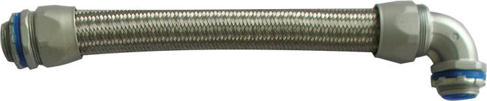Over Braided PVC Coated Flexible Metal Conduit with Heavy Series Metal Fittings