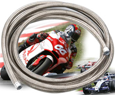 Braided PTFE Hose For Motor Bikes,Racing Cars
