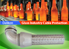 Heavy Series Over Braided Flexible Conduit and Fittings For Glass Industry Equipment Wiring