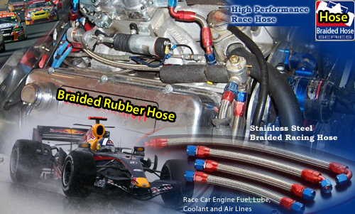 High Performance Hose For Race Car Engines Fuel, Oil, Lube, Coolant and Air Lines