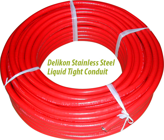 Stainless Steel Red Liquid Tight Conduit