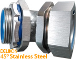 DELIKON 45 Degrees Stainless Steel Liquid Tight Connector